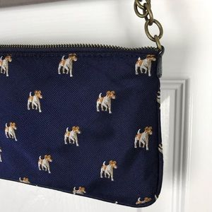 J Crew Silk Jack Russell Mini Bag EUC